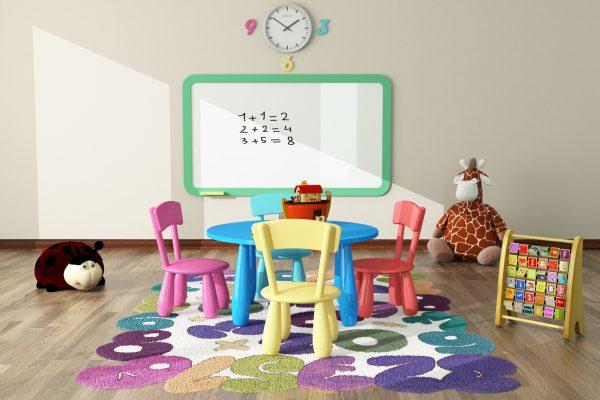 Kinderkamer met klok